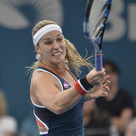 _PB11331 - 4th January 2017, Day 5, Brisbane International Tennis. Alize CORNET (FRA) defeats Dominika CIBULKOVA in straight sets 6-3 7-5 Cibulkova in...
