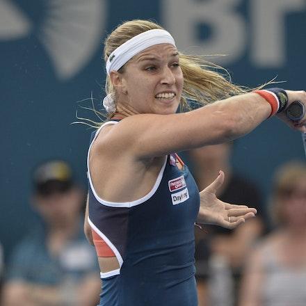 _PB11332 - 4th January 2017, Day 5, Brisbane International Tennis. Alize CORNET (FRA) defeats Dominika CIBULKOVA in straight sets 6-3 7-5 Cibulkova in...