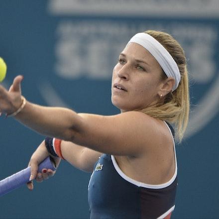 _PB11334 - 4th January 2017, Day 5, Brisbane International Tennis. Alize CORNET (FRA) defeats Dominika CIBULKOVA in straight sets 6-3 7-5 Cibulkova in...