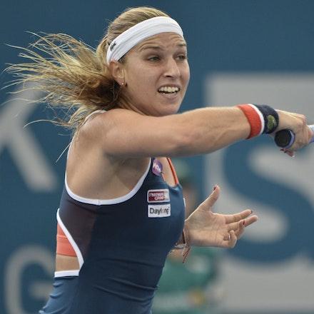 _PB11356 - 4th January 2017, Day 5, Brisbane International Tennis. Alize CORNET (FRA) defeats Dominika CIBULKOVA in straight sets 6-3 7-5 Cibulkova in...