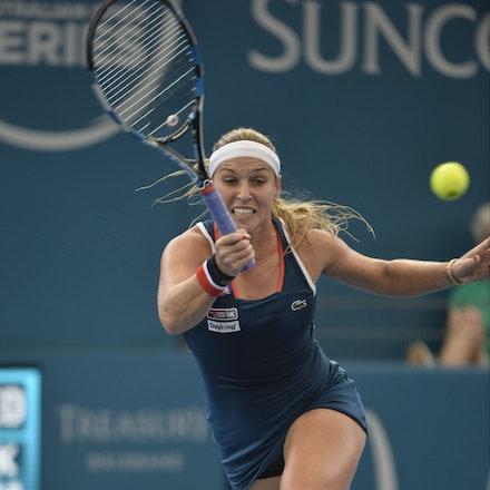 _PB11406 - 4th January 2017, Day 5, Brisbane International Tennis. Alize CORNET (FRA) defeats Dominika CIBULKOVA in straight sets 6-3 7-5 Cibulkova in...