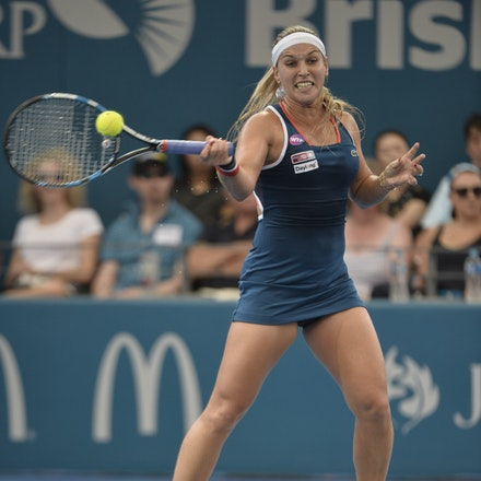_PB11409 - 4th January 2017, Day 5, Brisbane International Tennis. Alize CORNET (FRA) defeats Dominika CIBULKOVA in straight sets 6-3 7-5 Cibulkova in...