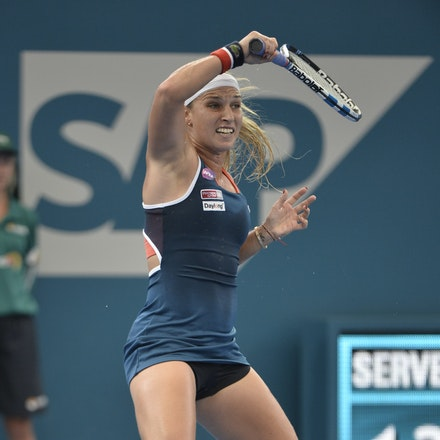 _PB11413 - 4th January 2017, Day 5, Brisbane International Tennis. Alize CORNET (FRA) defeats Dominika CIBULKOVA in straight sets 6-3 7-5 Cibulkova in...