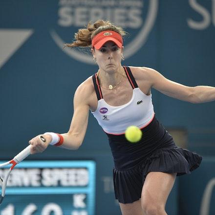 _PB11429 - 4th January 2017, Day 5, Brisbane International Tennis. Alize CORNET (FRA) defeats Dominika CIBULKOVA in straight sets 6-3 7-5 Cornet in action