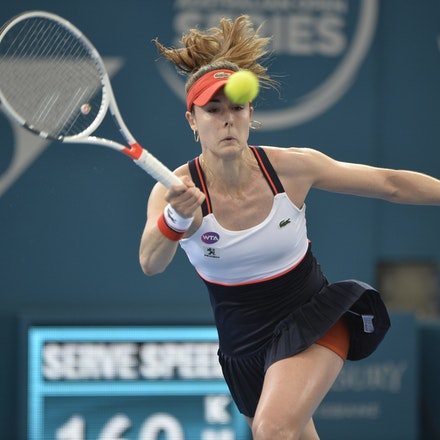 _PB11430 - 4th January 2017, Day 5, Brisbane International Tennis. Alize CORNET (FRA) defeats Dominika CIBULKOVA in straight sets 6-3 7-5 Cornet in action