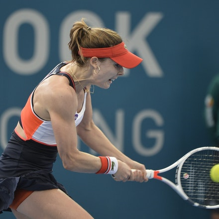 _PB11438 - 4th January 2017, Day 5, Brisbane International Tennis. Alize CORNET (FRA) defeats Dominika CIBULKOVA in straight sets 6-3 7-5 Cornet in action