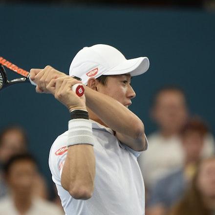 _PB15202 - 7th January 2017, Day 7, Brisbane International Tennis. Kei NISHIKORI defeats Stan WAWRINKA in straight sets 7[7]-6[3] 6-3  Wawrinka in action