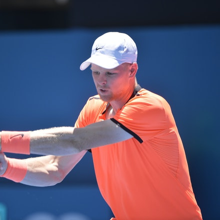 _PB17006 - 9th January 2017, Day 2, APIA International Sydney Tennis. Mathew BARTON (AUS) defeats Kyle EDMUND (GBR) in straight sets 7-6 7-6 Edmund in...