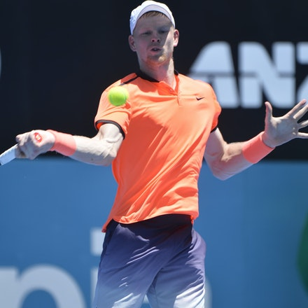 _PB17029 - 9th January 2017, Day 2, APIA International Sydney Tennis. Mathew BARTON (AUS) defeats Kyle EDMUND (GBR) in straight sets 7-6 7-6 Edmund in...
