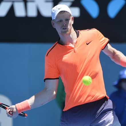 _PB17031 - 9th January 2017, Day 2, APIA International Sydney Tennis. Mathew BARTON (AUS) defeats Kyle EDMUND (GBR) in straight sets 7-6 7-6 Edmund in...