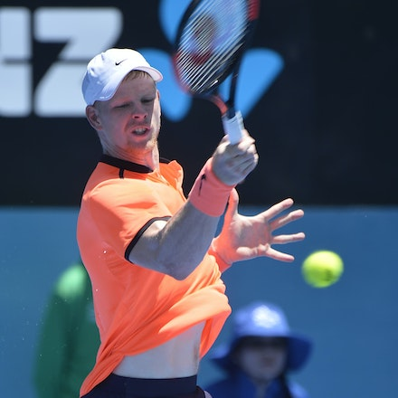 _PB17032 - 9th January 2017, Day 2, APIA International Sydney Tennis. Mathew BARTON (AUS) defeats Kyle EDMUND (GBR) in straight sets 7-6 7-6 Edmund in...