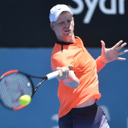 _PB17035 - 9th January 2017, Day 2, APIA International Sydney Tennis. Mathew BARTON (AUS) defeats Kyle EDMUND (GBR) in straight sets 7-6 7-6 Edmund in...