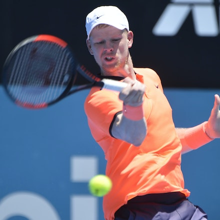 _PB17037 - 9th January 2017, Day 2, APIA International Sydney Tennis. Mathew BARTON (AUS) defeats Kyle EDMUND (GBR) in straight sets 7-6 7-6 Edmund in...