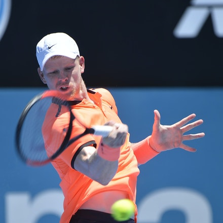 _PB17046 - 9th January 2017, Day 2, APIA International Sydney Tennis. Mathew BARTON (AUS) defeats Kyle EDMUND (GBR) in straight sets 7-6 7-6 Edmund in...