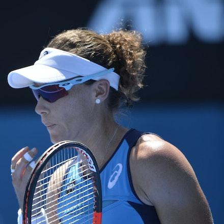 _PB17105 - 9th January 2017, Day 2, APIA International Sydney Tennis. Anastasia PAVLYUCHENKOVA (RUS) defeats Samantha STOSUR (AUS) in straight sets 6-3...