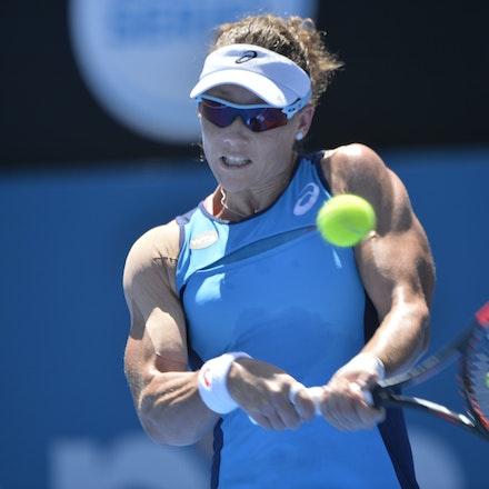 _PB17107 - 9th January 2017, Day 2, APIA International Sydney Tennis. Anastasia PAVLYUCHENKOVA (RUS) defeats Samantha STOSUR (AUS) in straight sets 6-3...