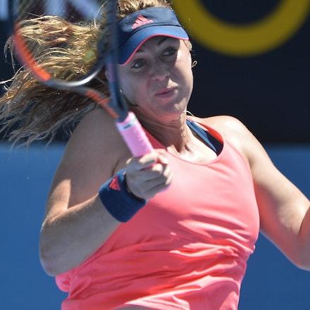 _PB17115 - 9th January 2017, Day 2, APIA International Sydney Tennis. Anastasia PAVLYUCHENKOVA (RUS) defeats Samantha STOSUR (AUS) in straight sets 6-3...