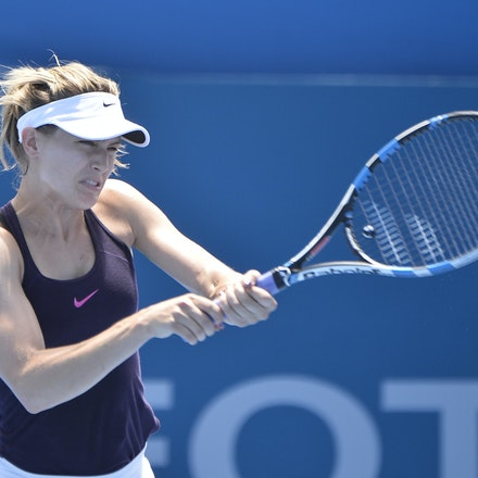 _PB18362 - 9th January 2017, Day 2, APIA International Sydney Tennis. Eugene BOUCHARD (CAN) defeats Dominika CIBULKOVA (SVK)  in straight sets 6-4 6-3...
