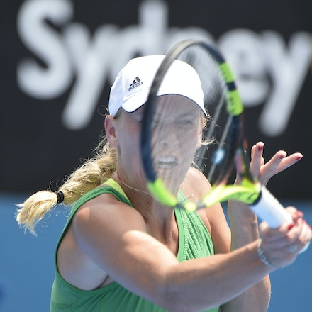 _PB10001 - 11th January 2017, Day 4, APIA International Sydney Tennis. Barbora STRYCOVA (CZE) defeats Caroline WOZNIACKI (DEN) 7-5 6-7 6-4 Wozniacki in...