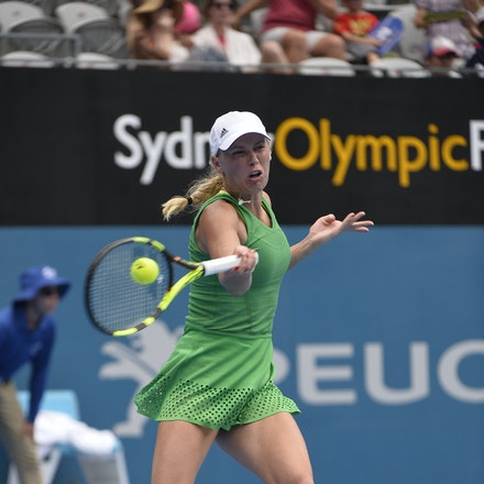 _PB10029 - 11th January 2017, Day 4, APIA International Sydney Tennis. Barbora STRYCOVA (CZE) defeats Caroline WOZNIACKI (DEN) 7-5 6-7 6-4 Wozniacki in...