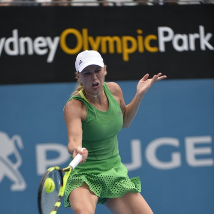 _PB10036 - 11th January 2017, Day 4, APIA International Sydney Tennis. Barbora STRYCOVA (CZE) defeats Caroline WOZNIACKI (DEN) 7-5 6-7 6-4 Wozniacki in...