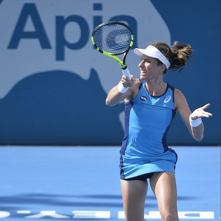 _PB10228 - 11th January 2017, Day 4, APIA International Sydney Tennis. Johanna Konta (GBR) defeats Daria KASATKINA (RUS) 6-3 7-5 Konta in action