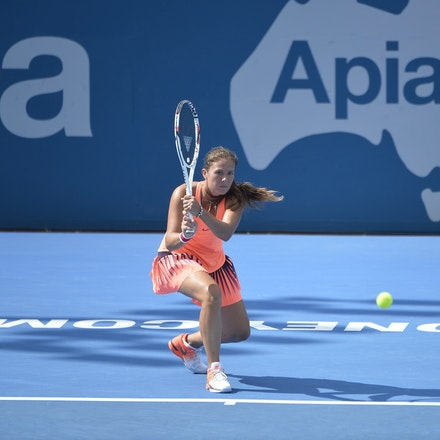 _PB10232 - 11th January 2017, Day 4, APIA International Sydney Tennis. Johanna Konta (GBR) defeats Daria KASATKINA (RUS) 6-3 7-5 Kasatkina in action