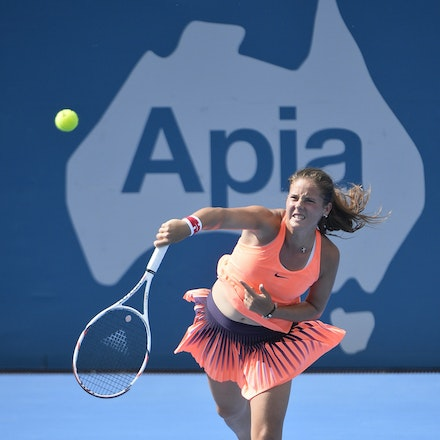 _PB10233 - 11th January 2017, Day 4, APIA International Sydney Tennis. Johanna Konta (GBR) defeats Daria KASATKINA (RUS) 6-3 7-5 Kasatkina in action