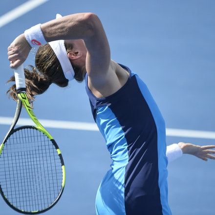 _PB10242 - 11th January 2017, Day 4, APIA International Sydney Tennis. Johanna Konta (GBR) defeats Daria KASATKINA (RUS) 6-3 7-5 Konta in action