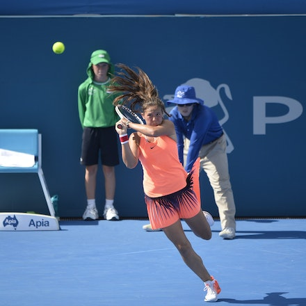 _PB10249 - 11th January 2017, Day 4, APIA International Sydney Tennis. Johanna Konta (GBR) defeats Daria KASATKINA (RUS) 6-3 7-5 Kasatkina in action