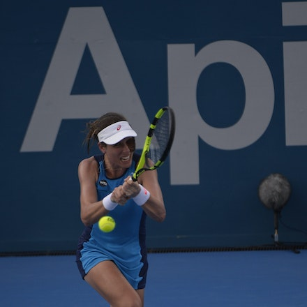 _PB10259 - 11th January 2017, Day 4, APIA International Sydney Tennis. Johanna Konta (GBR) defeats Daria KASATKINA (RUS) 6-3 7-5 Konta in action