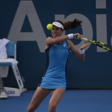 _PB10264 - 11th January 2017, Day 4, APIA International Sydney Tennis. Johanna Konta (GBR) defeats Daria KASATKINA (RUS) 6-3 7-5 Konta in action