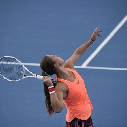 _PB10273 - 11th January 2017, Day 4, APIA International Sydney Tennis. Johanna Konta (GBR) defeats Daria KASATKINA (RUS) 6-3 7-5 Kasatkina in action