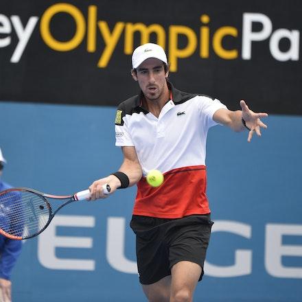 _PB10904 - 12th January 2017, Day 5, APIA International Sydney Tennis. Gilles MULLER (LUX) defeats Pablo CUEVAS 7-6 6-4 Cuevas in action