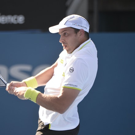 _PB12839 - 13th January 2017, Day 6, APIA International Sydney Tennis. Gilles MULLER (LUX) defeats Victor TROICKI  (SRB) 6-3 7-6 Muller in action