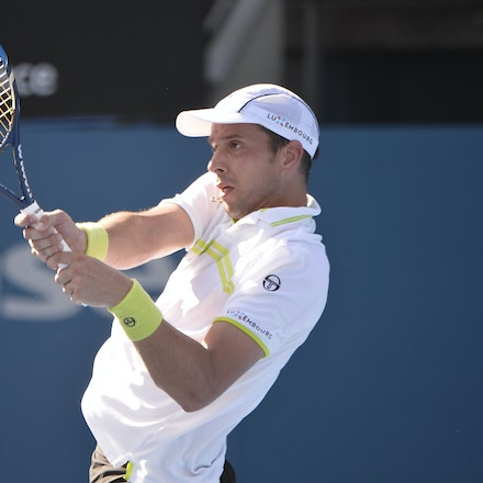 _PB12840 - 13th January 2017, Day 6, APIA International Sydney Tennis. Gilles MULLER (LUX) defeats Victor TROICKI  (SRB) 6-3 7-6 Muller in action