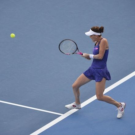 _PB12989 - 13th January 2017, Day 6, APIA International Sydney Tennis. Women Finals. Johanna KONTA (GBR) defeats Agnieszka RADWANSKA (POL) in straight...