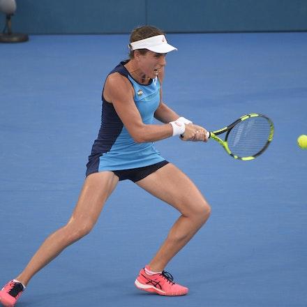 _PB12999 - 13th January 2017, Day 6, APIA International Sydney Tennis. Women Finals. Johanna KONTA (GBR) defeats Agnieszka RADWANSKA (POL) in straight...
