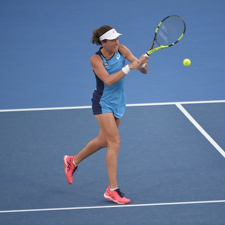 _PB13006 - 13th January 2017, Day 6, APIA International Sydney Tennis. Women Finals. Johanna KONTA (GBR) defeats Agnieszka RADWANSKA (POL) in straight...