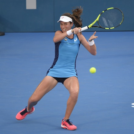 _PB13004 - 13th January 2017, Day 6, APIA International Sydney Tennis. Women Finals. Johanna KONTA (GBR) defeats Agnieszka RADWANSKA (POL) in straight...