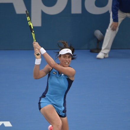 _PB13027 - 13th January 2017, Day 6, APIA International Sydney Tennis. Women Finals. Johanna KONTA (GBR) defeats Agnieszka RADWANSKA (POL) in straight...