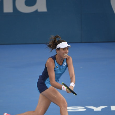 _PB13029 - 13th January 2017, Day 6, APIA International Sydney Tennis. Women Finals. Johanna KONTA (GBR) defeats Agnieszka RADWANSKA (POL) in straight...