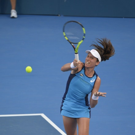 _PB13035 - 13th January 2017, Day 6, APIA International Sydney Tennis. Women Finals. Johanna KONTA (GBR) defeats Agnieszka RADWANSKA (POL) in straight...