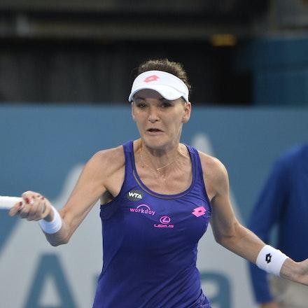 _PB13040 - 13th January 2017, Day 6, APIA International Sydney Tennis. Women Finals. Johanna KONTA (GBR) defeats Agnieszka RADWANSKA (POL) in straight...