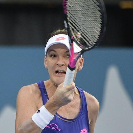 _PB13041 - 13th January 2017, Day 6, APIA International Sydney Tennis. Women Finals. Johanna KONTA (GBR) defeats Agnieszka RADWANSKA (POL) in straight...