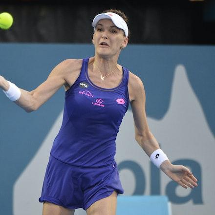 _PB13043 - 13th January 2017, Day 6, APIA International Sydney Tennis. Women Finals. Johanna KONTA (GBR) defeats Agnieszka RADWANSKA (POL) in straight...