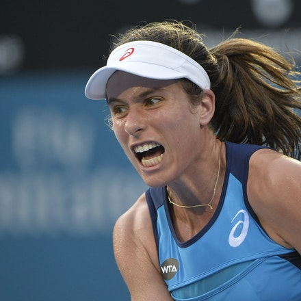 _PB13052 - 13th January 2017, Day 6, APIA International Sydney Tennis. Women Finals. Johanna KONTA (GBR) defeats Agnieszka RADWANSKA (POL) in straight...