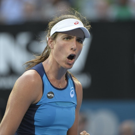 _PB13060 - 13th January 2017, Day 6, APIA International Sydney Tennis. Women Finals. Johanna KONTA (GBR) defeats Agnieszka RADWANSKA (POL) in straight...