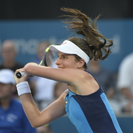 _PB13063 - 13th January 2017, Day 6, APIA International Sydney Tennis. Women Finals. Johanna KONTA (GBR) defeats Agnieszka RADWANSKA (POL) in straight...