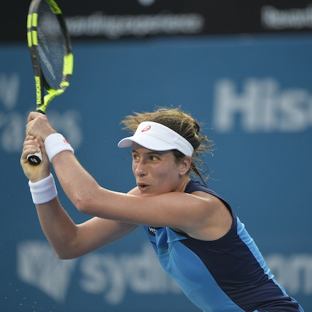 _PB13068 - 13th January 2017, Day 6, APIA International Sydney Tennis. Women Finals. Johanna KONTA (GBR) defeats Agnieszka RADWANSKA (POL) in straight...